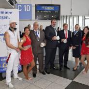 Salsa Cubana Tanzshow für Condor am Flughafen